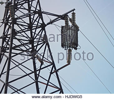 A power line with glass insulators stock photo royalty for Power line insulators glass