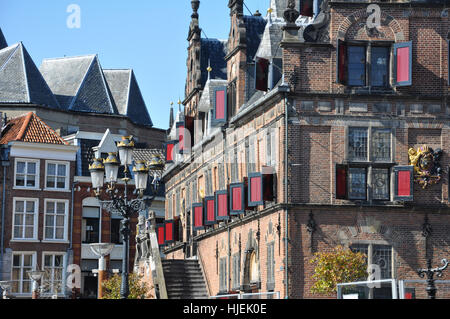city, town, town hall, netherlands, style of construction, architecture, - Stock Photo
