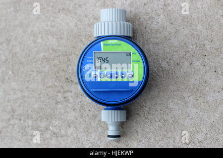 Close up of Digital Tap Timer isolated - Stock Photo