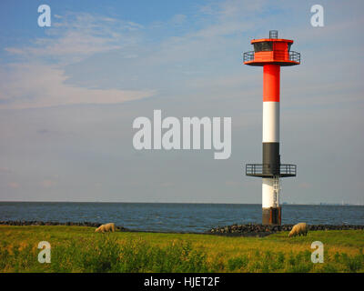 tower, navy, blank, european, caucasian, elbe, Northern Germany, lighthouse, - Stock Photo