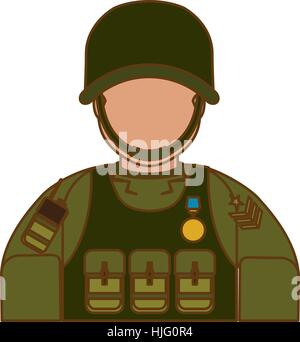 soldier army related  icons image vector illustration design - Stock Photo