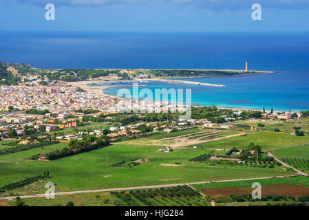 View of San Vito Lo Capo, Sicily, Italy - Stock Photo
