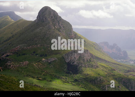 Mountain landscape, San Vito Lo Capo, Sicily, Italy - Stock Photo