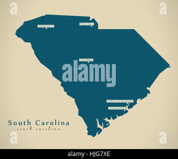 map of south carolina Stock Photo Royalty Free Image 117711711