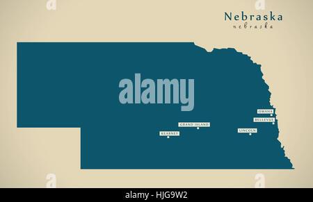 Map Of Nebraska Stock Photo Royalty Free Image Alamy - Usa map nebraska