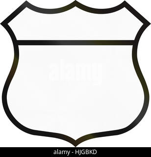 Blank highway route shield used in the US. - Stock Photo