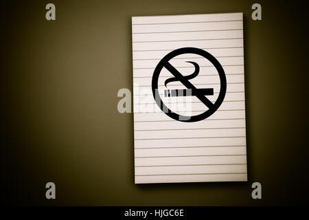 smoke, smoking, smokes, fume, danger, note, memo, board, health, detail, - Stock Photo
