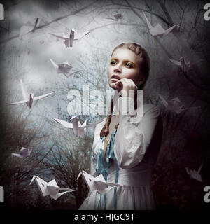 woman, humans, human beings, people, folk, persons, human, human being, - Stock Photo