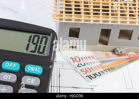 Small House And Calculator Stock Photo Royalty Free Image