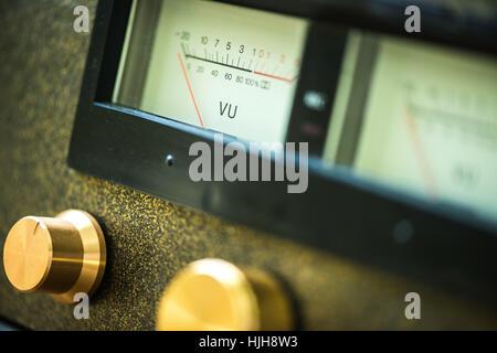 handmade tube amplifier - Stock Photo