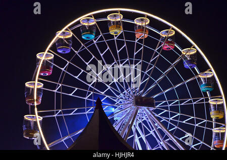 Big Ferris Wheel in Barry, South Wales - Stock Photo