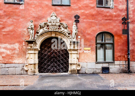 house, building, travel, city, town, stone, statue, window, porthole, dormer - Stock Photo