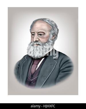 James Prescott Joule, 1818-1889, Physicist, Brewer - Stock Photo