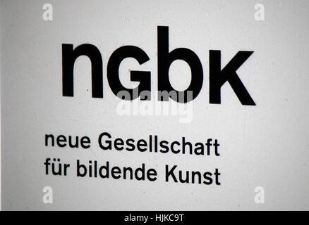 das Logo der Marke 'NGBK Neue Gesellschaft fuer Bildende Kunst', Berlin. - Stock Photo