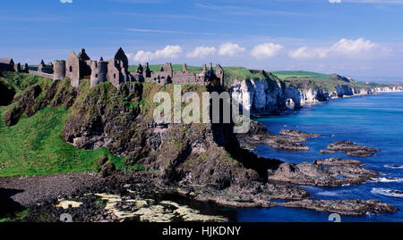 Dunluce Castle, County Antrim, Northern Ireland, UK - Stock Photo