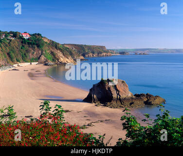 North Beach, Tenby, Pembrokeshire, South Wales, UK - Stock Photo