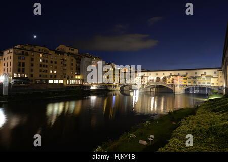 Ponte Vecchio, Old Bridge, Taddeo Gaddi, over Arno river ...