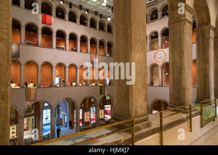 Interior of Fondaco dei Tedeschi (b. 1228) - now a department store along the Grand Canal, Venice, Veneto, Italy - Stock Photo