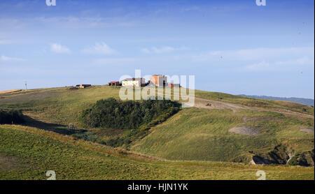 scenic landscapes of Crete Senesi, siena, tuscany, italy - Stock Photo