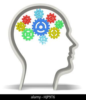 Human Brain 3D - Stock Photo