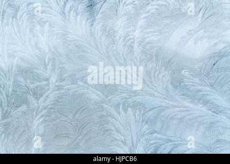 Frosty patterns on the window. - Stock Photo