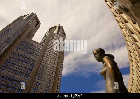 Metropolitan government of tokyo building,Shinjuku district,Tokyo, ,Japan, Asia - Stock Photo