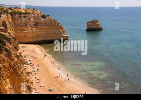 Marinha Beach, Carvoeiro, Algarve, Portugal - Stock Photo