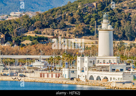 The Lighthouse At Malaga Andalusia Spain - Stock Photo