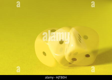 eyes, dice, game of chance, gambling, cast dice, dice box, dice, fallende - Stock Photo