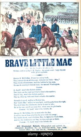 Sheet music cover image of the song 'Song Sheet  Brave Little Mac', with original authorship notes reading 'Air - Stock Photo