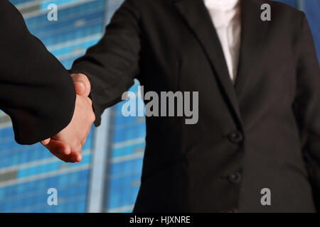 Business handshake, Business deal finalized, Congratulations Concept - Stock Photo