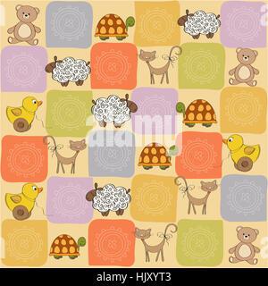 sweet, graphic, animal, sheep, toy, illustration, teddy bear, teddybear, decor, - Stock Photo