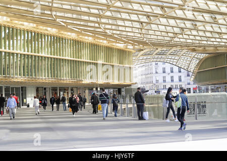 La Canopee,commercial center of Forum des Halles,in old Paris,France - Stock Photo