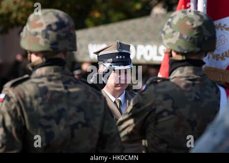 Poznan, Poland - September 29, 2012 Land Forces Training Centre in Poznan. Open day inaugurating the new academic year.