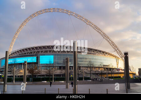Wembley Stadium Arch, London, England, United Kingdom - Stock Photo