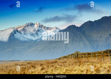 Rural countryside near Hofn, Iceland, Polar Regions - Stock Photo