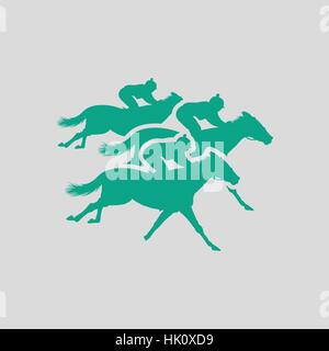 Horse ride icon. Gray background with green. Vector illustration. - Stock Photo