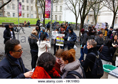London, UK. 25th January 2017. Movement For Justice March On SOAS (London,UK) in a bid to lobby for 'sanctuary campuses. - Stock Photo