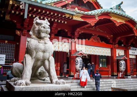 Kanda Miyojin Shrine, Tokyo, Japan - Stock Photo
