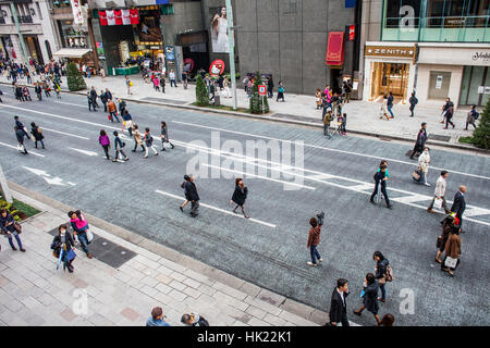 Townscape, Weekend, Saturday, sunday,Chuo street, (On Saturday afternoons and Sundays it becomes a pedestrian zone), - Stock Photo