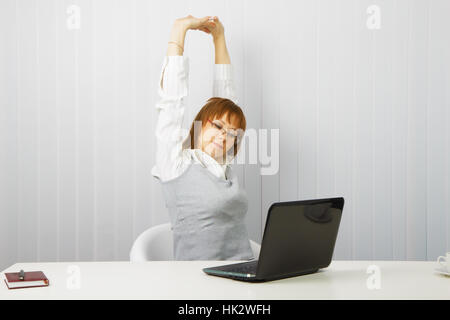 woman, humans, human beings, people, folk, persons, human, human being, office, - Stock Photo