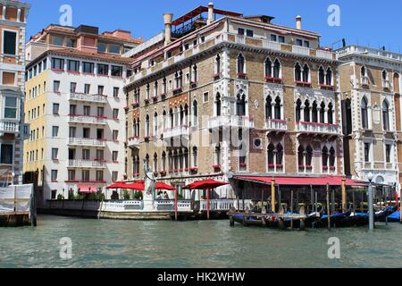 prunkbau from a bygone era. venice,grand canal - Stock Photo