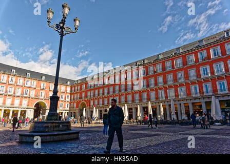 Madrid, Spain - January 19, 2017: The Plaza Mayor, Madrid, Spain - Stock Photo