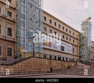 Glass elevator of the modern art museum Centro de Arte ...