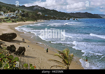 Stunning Bathsheba beach, Barbados, Caribbean - Stock Photo