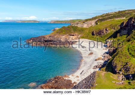 The beach and coastline near Seriol Anglesey - Stock Photo
