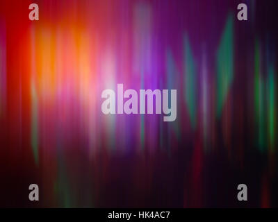 Colorful Rainbow Aurora Light Motion Effect Music Technology Sci-fi Concept Abstract Background - Stock Photo