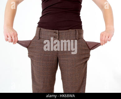 Empty trouser pockets - Stock Photo