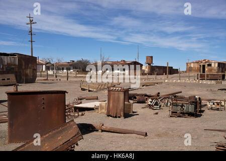 Santiago Humberstone Oficina Salitrera, Atacama Desert, Norte Grande, Chile - Stock Photo
