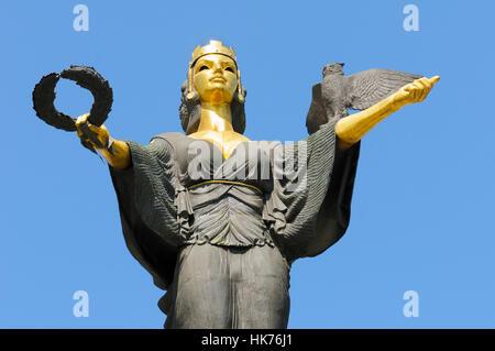 Close-up of the symbolic statue of St Sofia (Statuya Sveta), Sofia, Bulgaria - Stock Photo